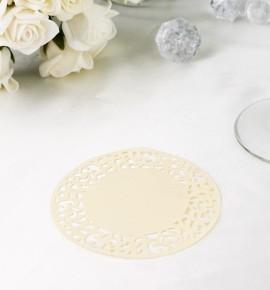 Papírová rozetka krémová - ROZ102
