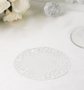 Papírová rozetka bílá - ROZ101