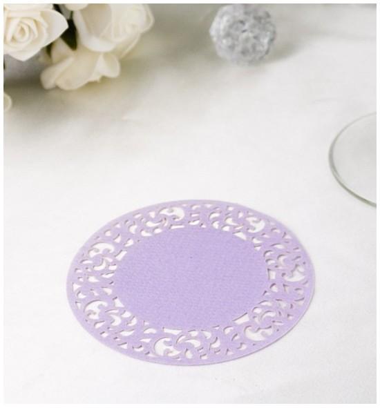 Papírová rozetka lila fialová - ROZ110