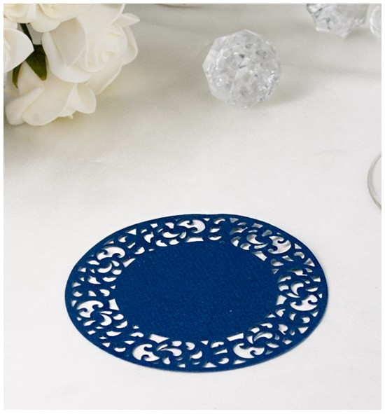 Papírová rozetka tmavě modrá - ROZ111