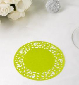 Papírová rozetka světle zelená - ROZ113