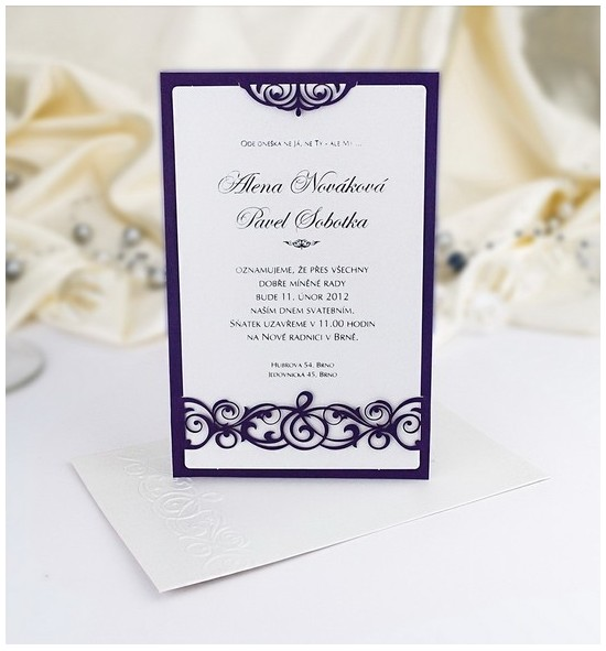 Svatební oznámení G901B