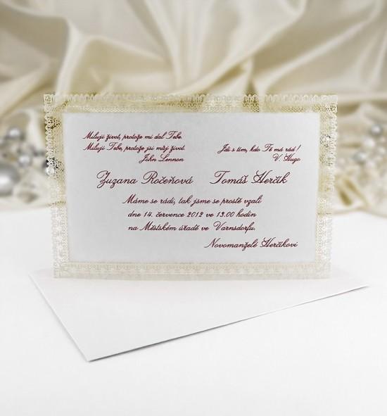 Svatební oznámení G964