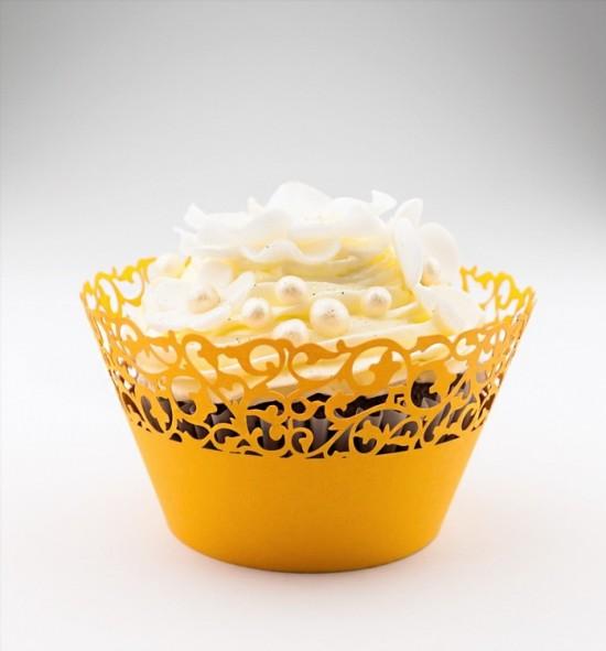 Svatební košíčky na cupcakes - CC1104