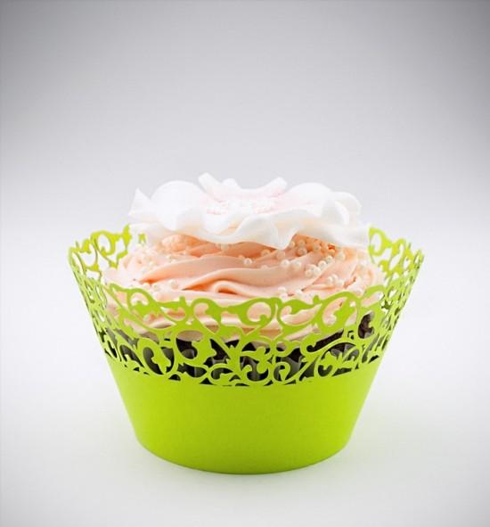 Svatební košíčky na cupcakes - CC1113