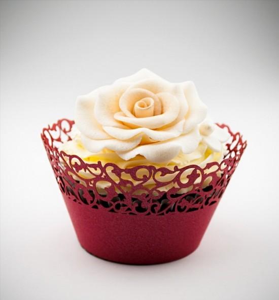 Svatební košíčky na cupcakes - CC1114