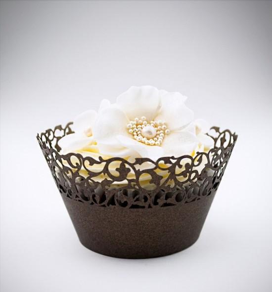 Svatební košíčky na cupcakes - CC1116
