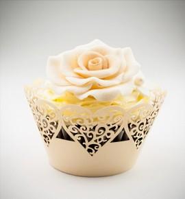 Svatební košíčky na cupcakes - CC1303