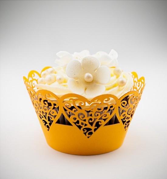 Svatební košíčky na cupcakes - CC1304