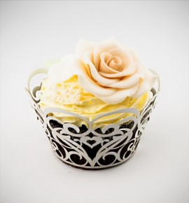 Svatební košíčky na cupcakes - CC1502