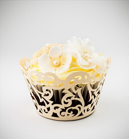 Svatební košíčky na cupcakes - CC1603