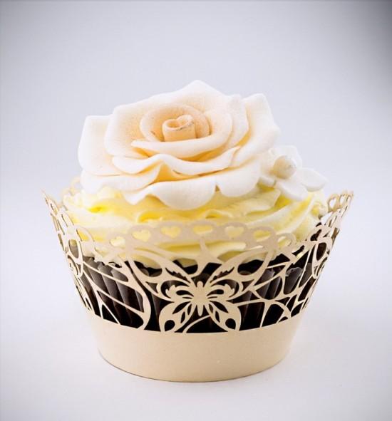 Svatební košíčky na cupcakes - CC1703
