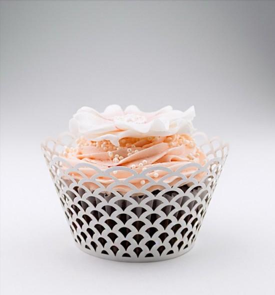 Svatební košíčky na cupcakes - CC1802