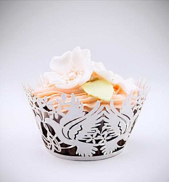 Svatební košíčky na cupcakes - CC1902