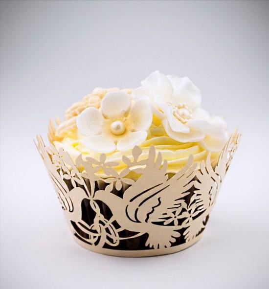 Svatební košíčky na cupcakes - CC1903