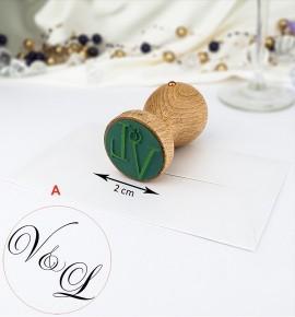 Svatební razítko s monogramem - RAZ02-A