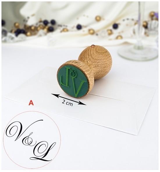 Svatební razítko s monogramem - SVR01