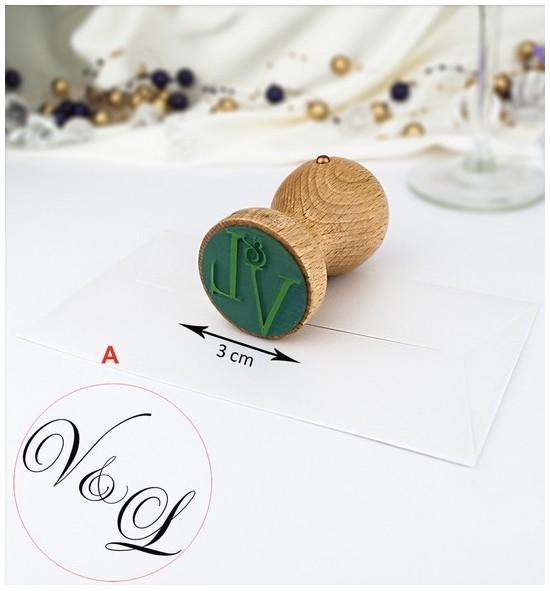Svatební razítko s monogramem - SVR02