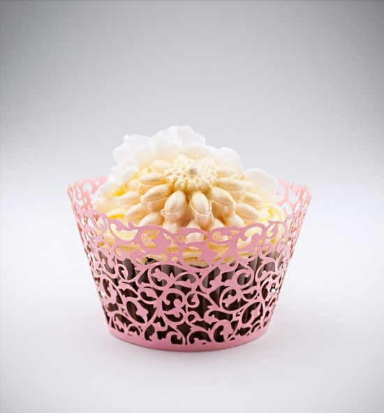Svatební košíčky na cupcakes - CC2105