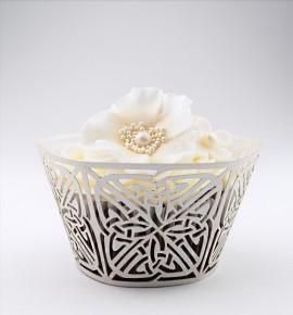 Svatební košíčky na cupcakes - CC2202