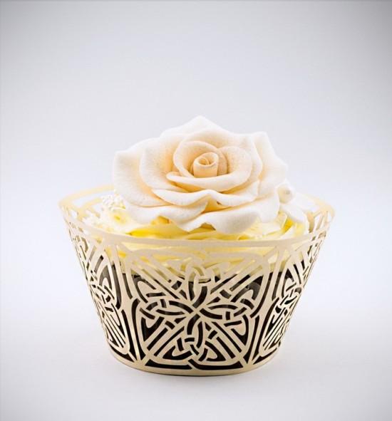 Svatební košíčky na cupcakes - CC2203