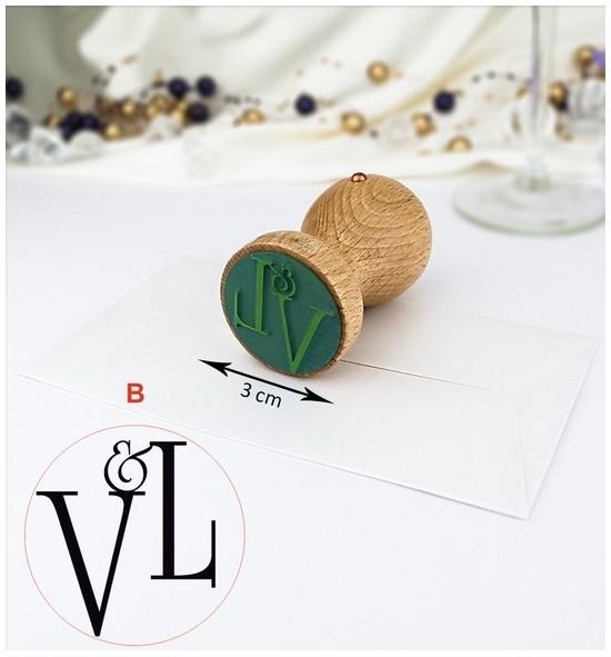 Svatební razítko s monogramem - raz03-B