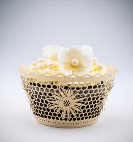 Svatební košíčky na cupcakes - CC2303