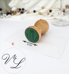 Svatební razítko s monogramem - RAZ03-C