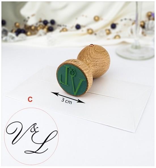 Svatební razítko s monogramem - SVR08