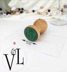 Svatební razítko s monogramem - RAZ04-B
