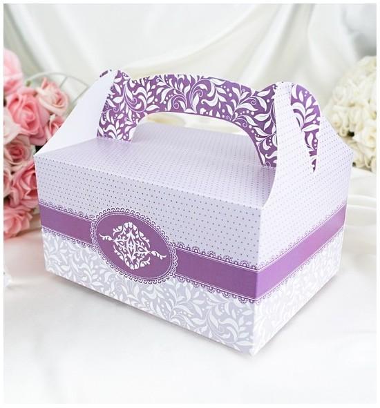 Krabička na výslužku K1005 - světle fialová