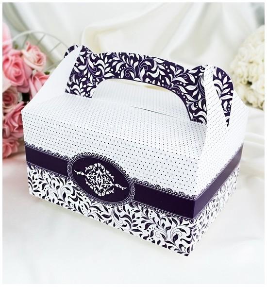 Krabička na výslužku K1006 - tmavě fialová