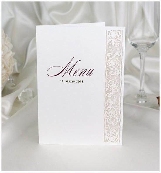 Svatební menu M2049