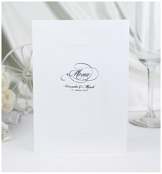 Svatební menu M978