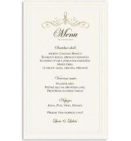 Svatební menu M962