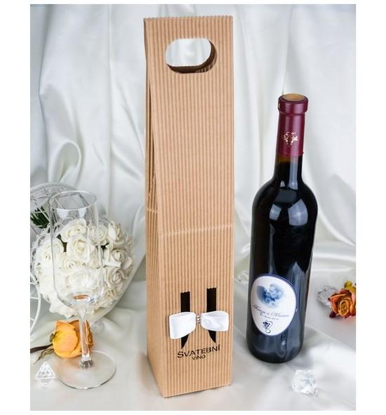 Krabice na svatební víno SKV2024 - bílá atlasová
