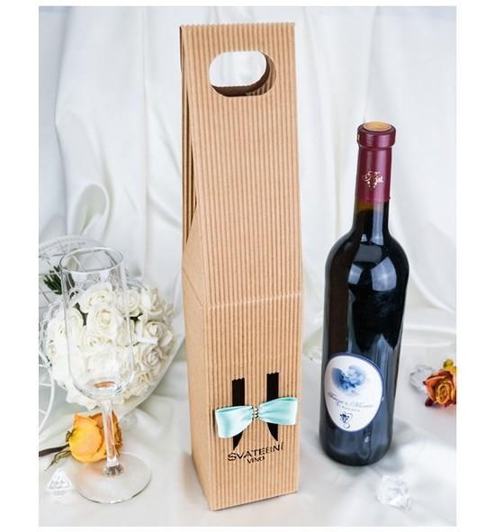 Krabice na svatební víno SKV2024B - mátová