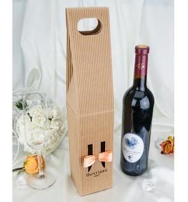 Krabice na svatební víno SKV2024D - oranžová