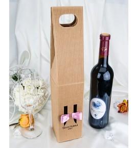 Krabice na svatební víno SKV2024E - starorůžová