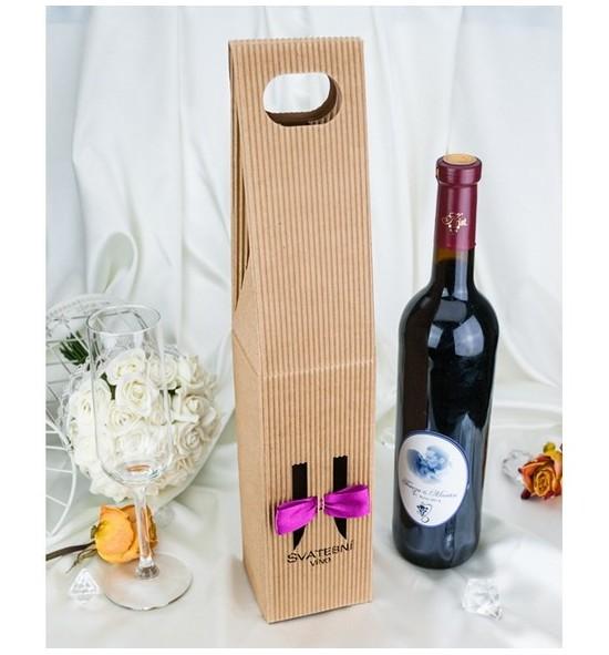 Krabice na svatební víno SKV2024F - fialová