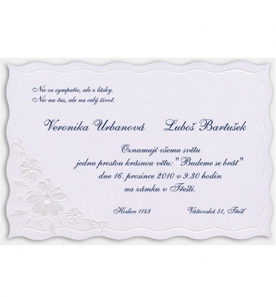 Svatební oznámení G829