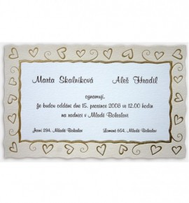 Svatební oznámení G715