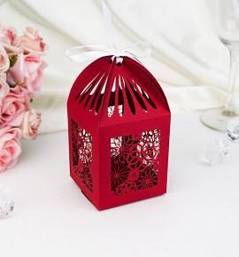 Svatební krabička na makronky - K2044