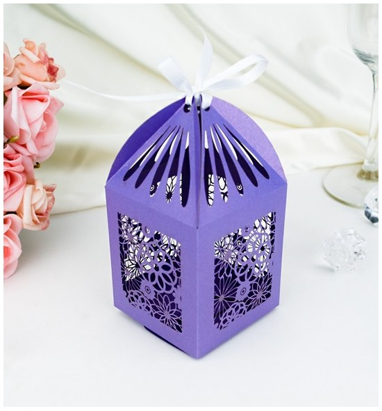 Svatební krabička na makronky - K2044B