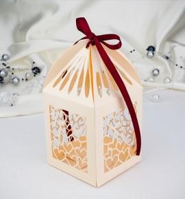Svatební krabička na makronky - K653