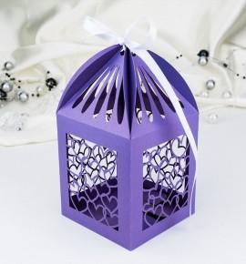 Svatební krabička na makronky - K663