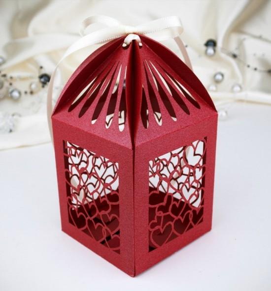 Svatební krabička na makronky - K664