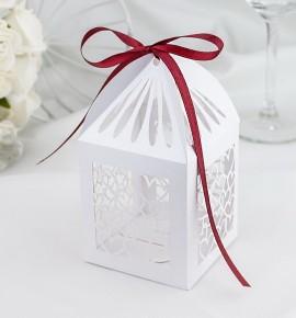 Svatební krabička na makronky - K665