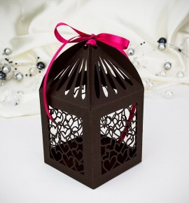 Svatební krabička na makronky - K666