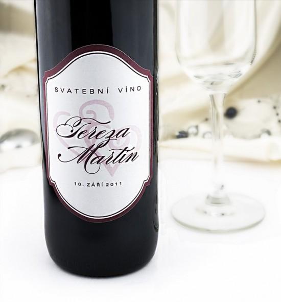 Etiketa na svatební víno - ETV01